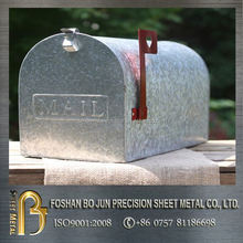 custom manufacture galvanized America style mailbox fabricated service by china supplier