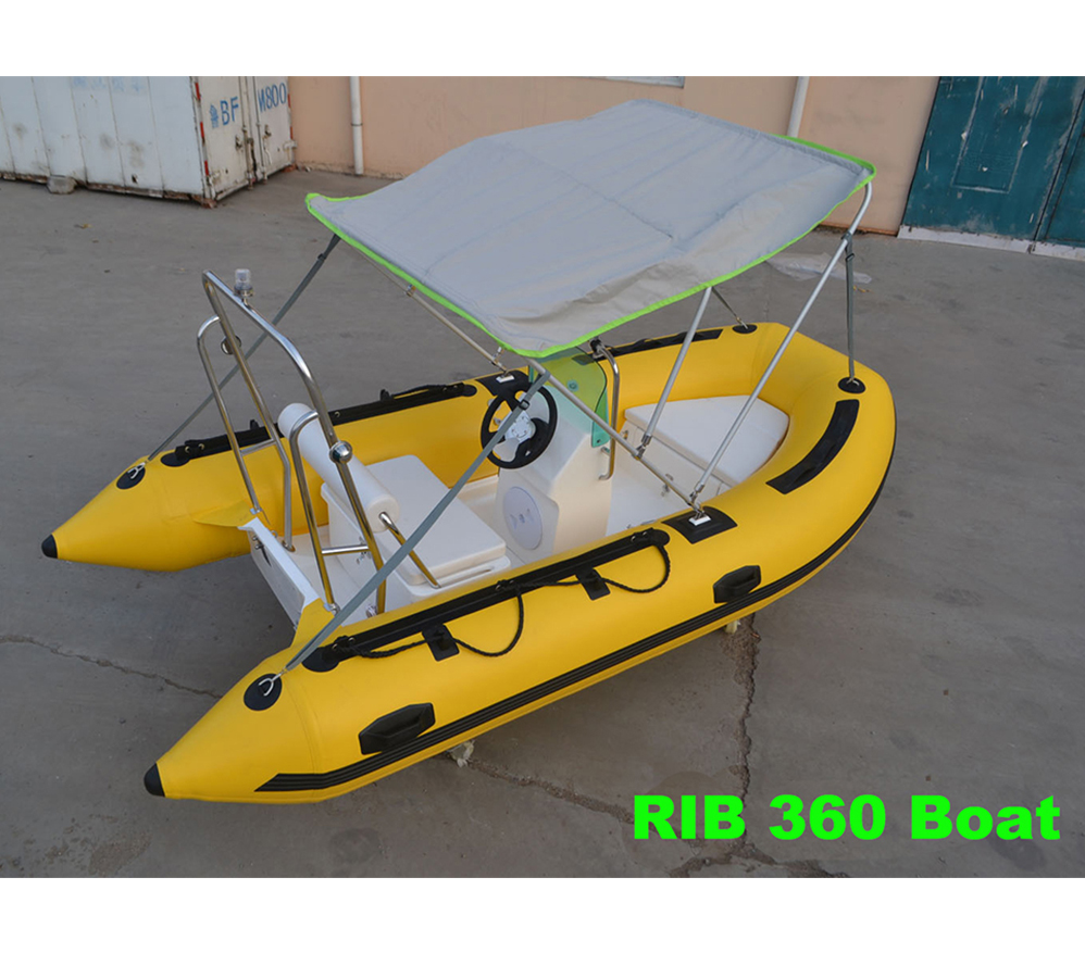 China cheap Fiberglass rigid inflatable fishing <strong>boats</strong> and yacht rib 360 for sale