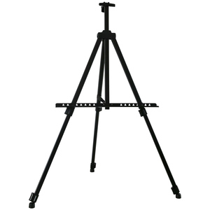 Lightweight portable tripod metal stand metal easel display easel,metal drawing painting easel stand,aluminium easel