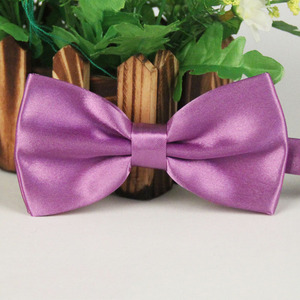 Mens high quality decoration custom fashion color solid bowtie