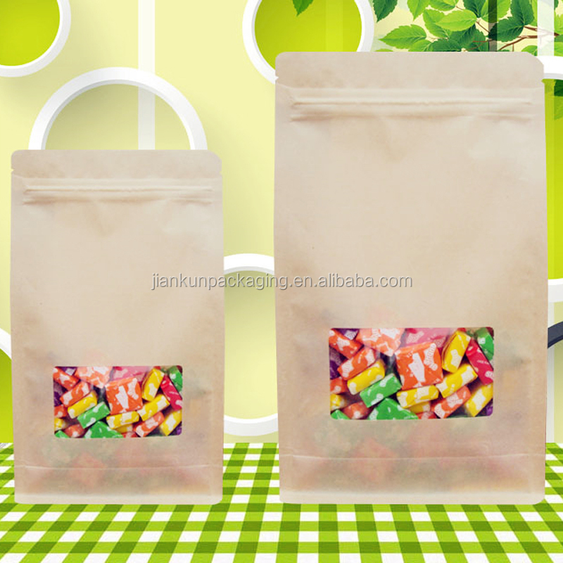 Free sample food grade packing flat bottom candy bag
