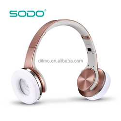 Bluetooth wireless headset stereo headphone,twist out into speaker