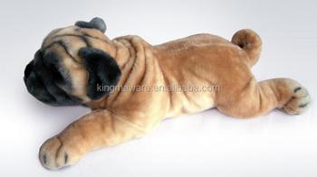 Realistic Plush Pug Dog Toysimulation Stuffed Pug Dog Plush Toy