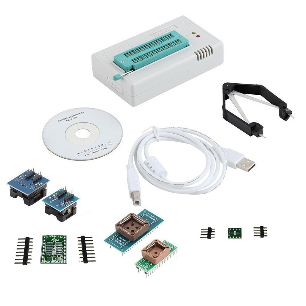 Cheap Eprom Programmer Usb Find Deals On Line Atmel Circuit Zif Socket Usbasp Atmega8 Prog Get Quotations Laqiya Tl866cs Flash Bios Programmable Logic Circuits 6 Adapters Extractor For 13000
