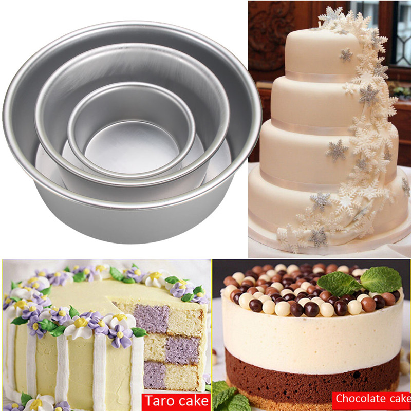 New Home Kitchen Cake Baking Mould Pan Bakeware Tool Aluminum Alloy Non-stick Round 4/6/8' Brand free shipping