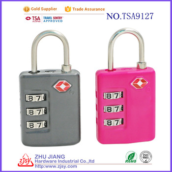 factory wholesale tsa 3 digit combination luggage zipper padlock
