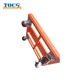 Powder Coating or Galvanized Rubber 4 Wheel Pallet Dolly