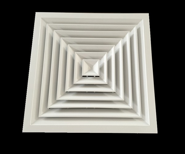 AC Vent Air Register Supply Air Diffuser 4-way Square Ceiling Diffuser with Damper