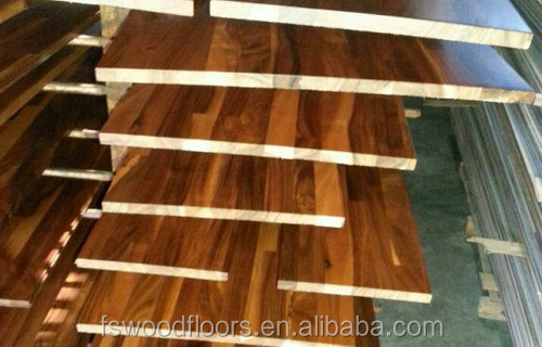 natural acacia walnut wood stair step covers