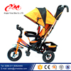 Factory wholesale children tricycle / 4 in 1 functions kids 3 wheels bicycle tricycle / pedal baby carrier tricycle with roof