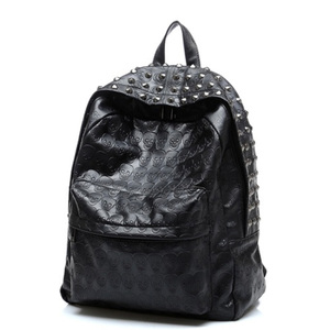 Unique skull PU leather backpack stylish designer backpack bag