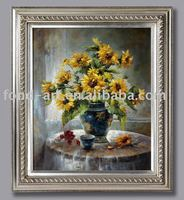 2765 Antique Frame with Hand-made Flower Oil Painting