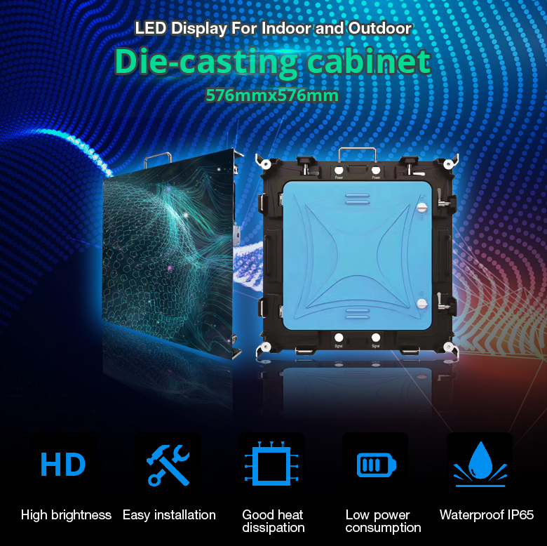 P3 SMD2121 high refresh rate indoor full color led display price