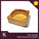 Food grade disposable golden plastic mooncake inner tray with lid