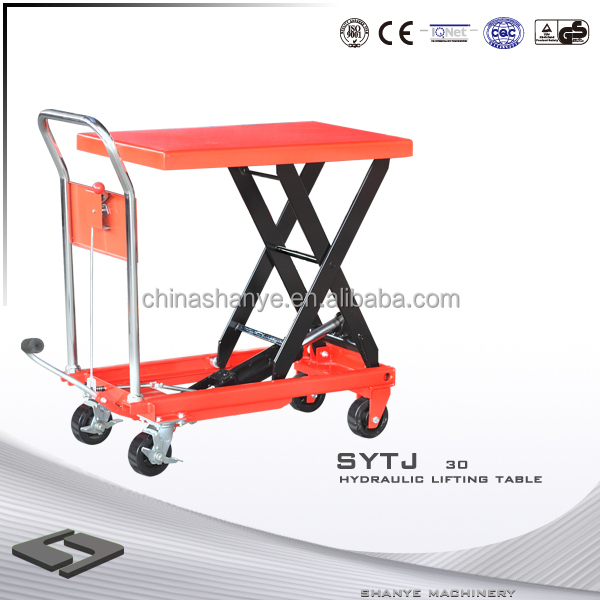 SHANYE Hydraulic Lifting Table table top scissor lifting platform