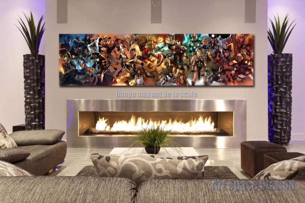 r cher superhelden marvel comics filmplakat drucken 60x16inch riesigen leinwand. Black Bedroom Furniture Sets. Home Design Ideas