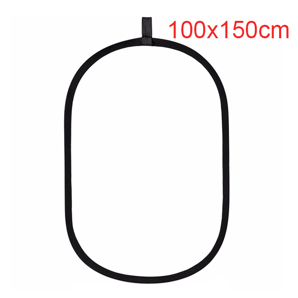 100*150cm Oval 2 in 1 Multi Collapsible Studio Photo Reflector disc