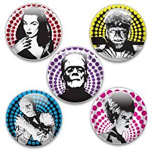 Decorative Push Pins 5 Big Classic Monsters