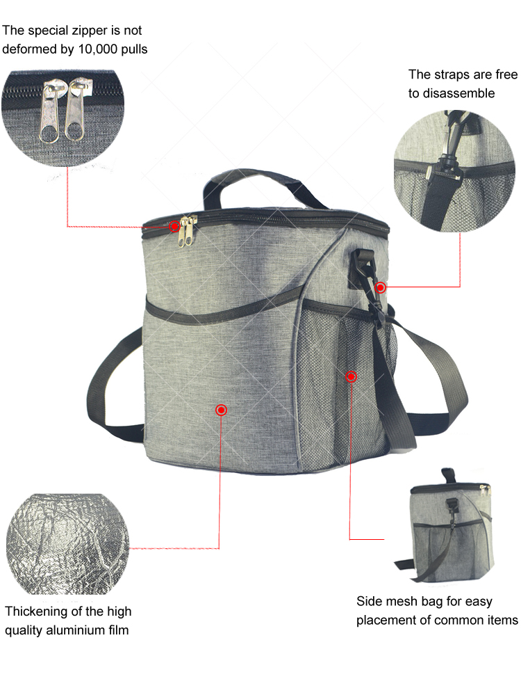 2019 Insulated Waterproof Foldable Trolley Picnic Wine Beer Bottle Cooler Bag