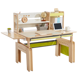 2M2KIDS Workshop study desk natural environmental wood children table larger desktop space ergonomic kids desk height adjustable