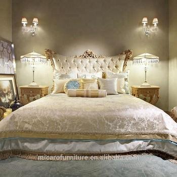 Luxury Furniture Royal Furniture Antique Gold Bedroom Sets Baroque