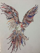 2016Hot Sale21 X 15 CM Colorido Birdr Temporária Body Art Tattoo Waterproof #118