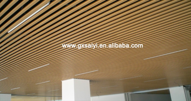 Cheap Baffle Aluminum Commercial Ceiling Tiles