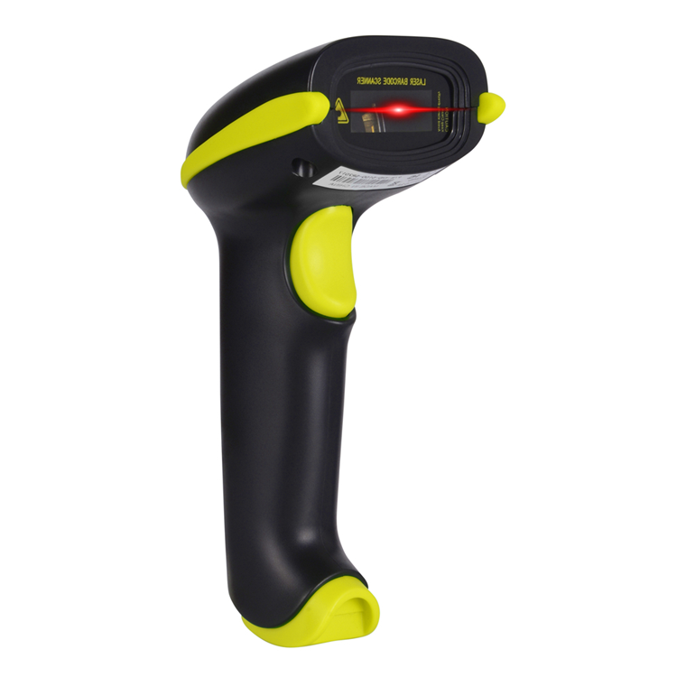 Wired Barcode Scanner 1D Laser USB Bar code Reader Waterproof IP54 Grade Multiple Colors Optional