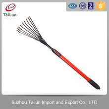 Plastic Coated 9Tines A3 Steel Red Garden Telescopic Hay Rake