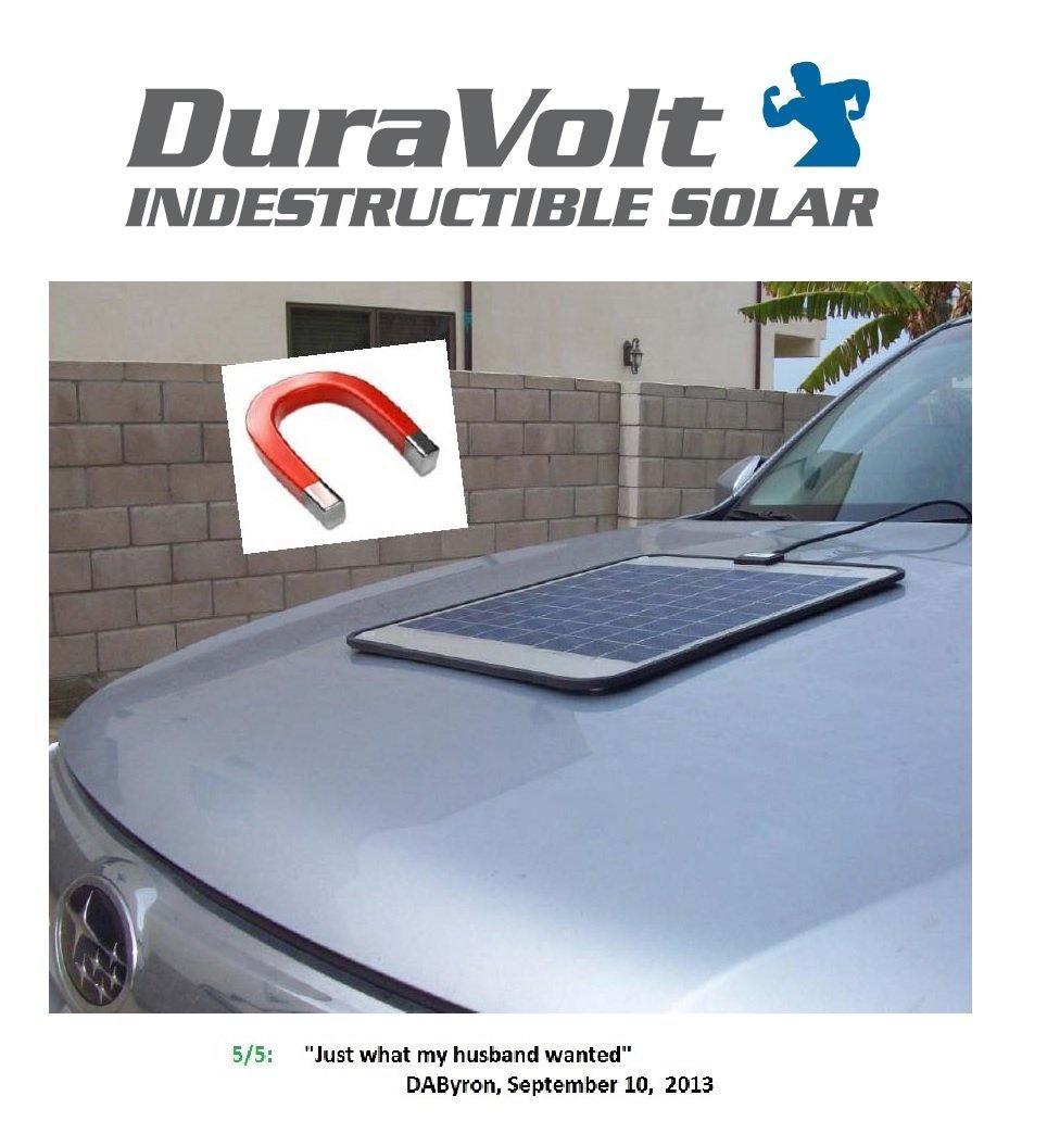 "!!SUPER MAGNETIC !! 12 Volt Solar Charger 8.3 Watt - Boat Rv Marine Solar Panel - Semi Flexible - Self Regulating - 12V - No experience Plug & Play Design. Dimensions 11.8"" L x 10.0"" W x 1/4"" Thick. 10' cable."