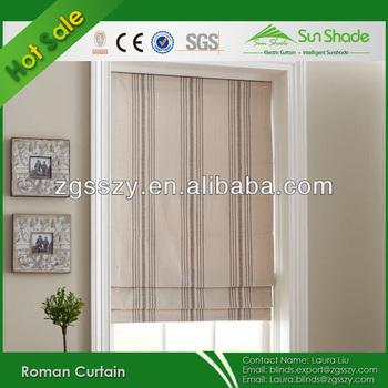 home automatic fabric blackout roman window shades - Blackout Roman Shades
