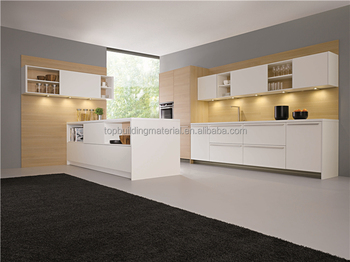 Custom design Modern lacquer glossy kitchen cabinet unit