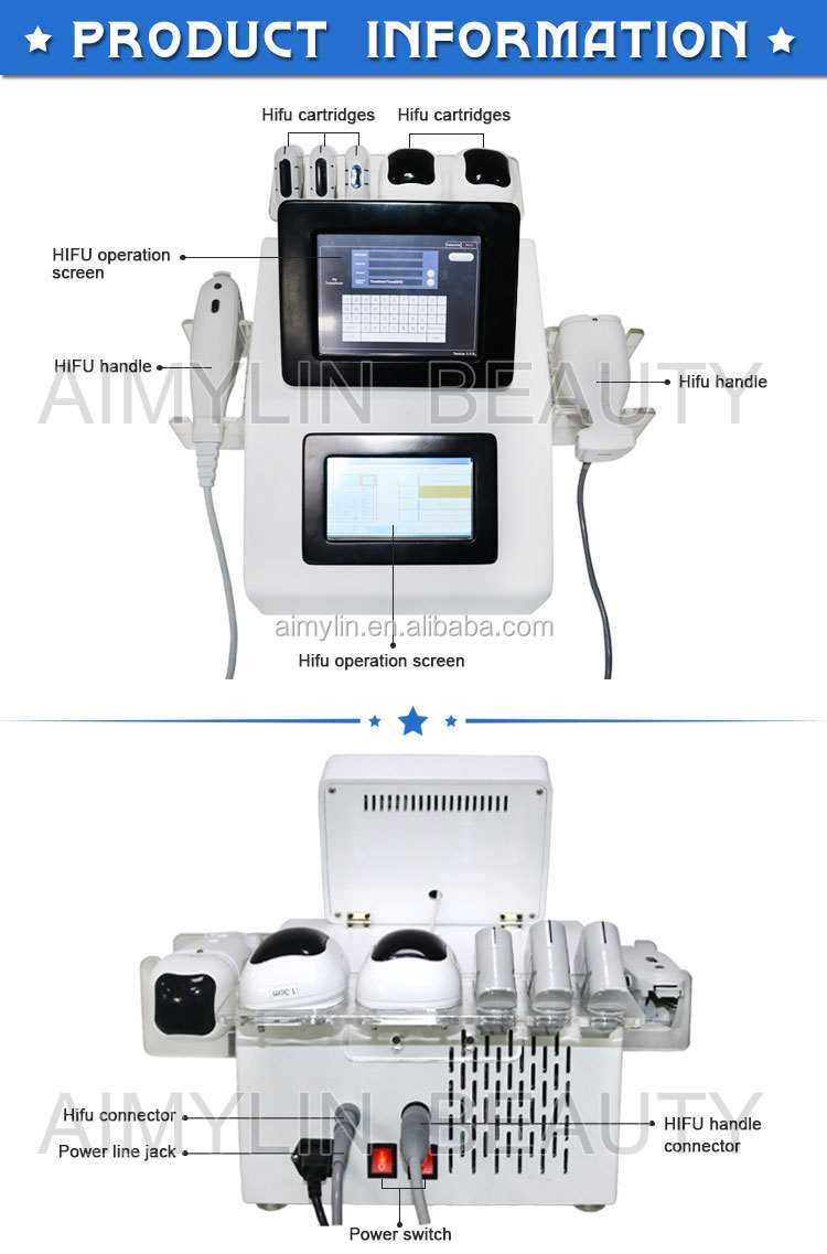 New HIFU tech with 2 handles working simultaneously liposonic HIFU fat removal machine