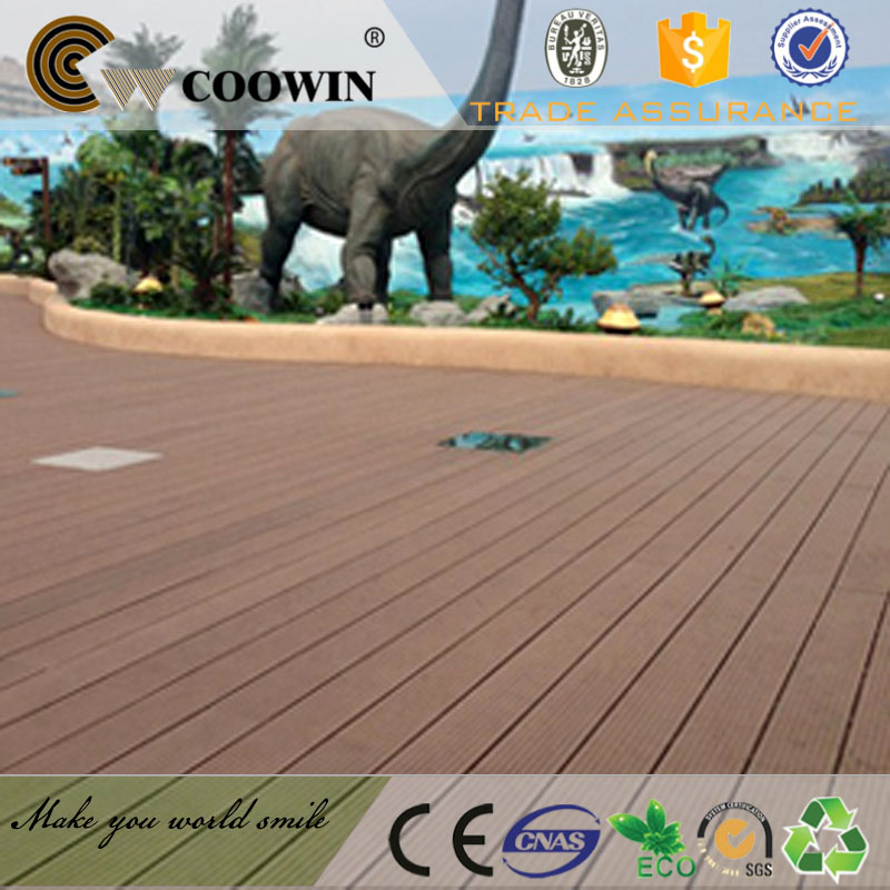 OEM Wear-resisting WPC decking plastic wood composite laminate flooring for outdoor basketball courts