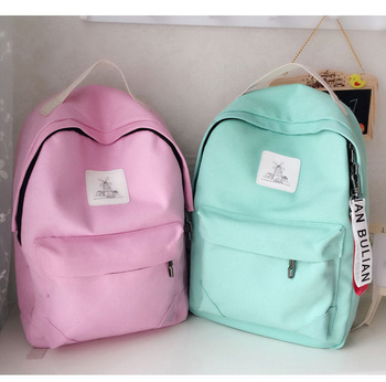 The new women's bag is a bag of pure color and fresh travel backpacks
