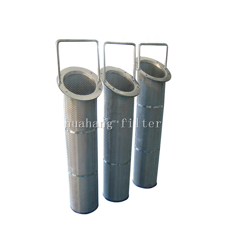 Hydraulic pressure 1 micron filter Stainless steel 304 perforated sheet portable basket oil filter export to America