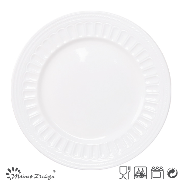 Wholesale Embossed Restaurant Dinner Plates,Cheap White Dinner ...