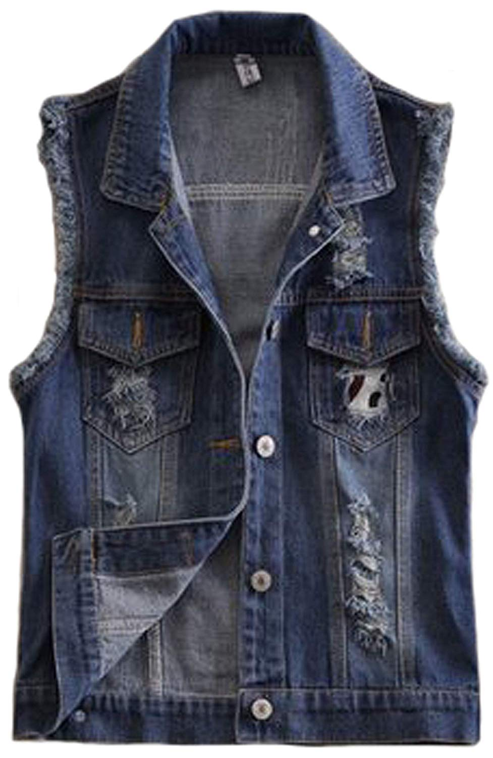 0621153a16833 Get Quotations · 2015 New Short Type Sleeveless Denim Jacket Hole Jeans  Vests
