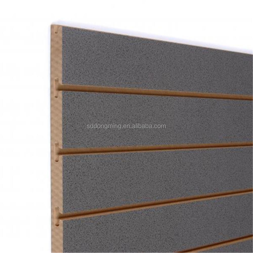 mdf slatwall panneau de bois latte murale slot conseil panneaux en fibres id de produit. Black Bedroom Furniture Sets. Home Design Ideas