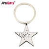 Wholesale Keyholder Custom Sublimation Star Car Metal Keychain