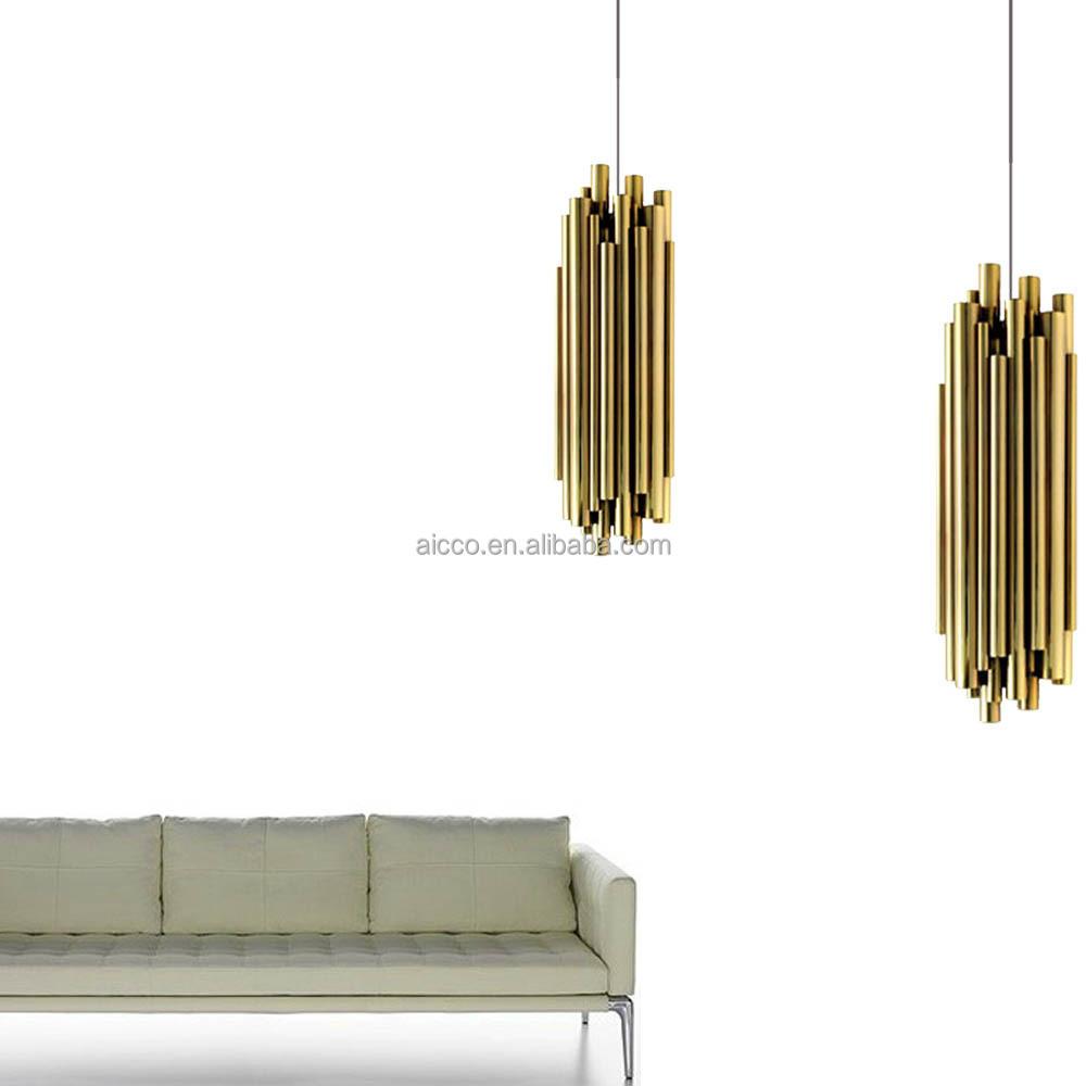 Metal Pendant Lighting Decorative Hanging Pendant Lighting Metal Tube Pendant Lighting
