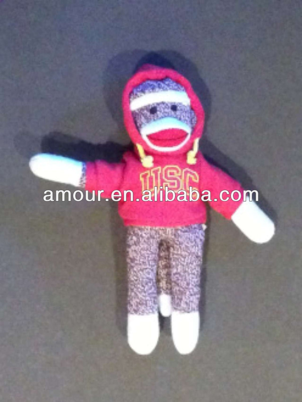 "11"" SOCK MONKEY doll PLUSH STUFFED ANIMAL new product kids toy 2013"