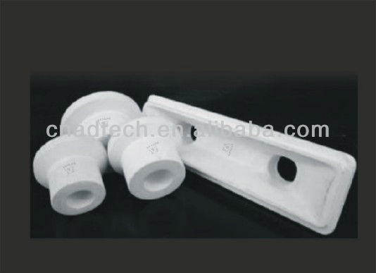 Ceramic metal products high density aluminum melting al-si casting thimble