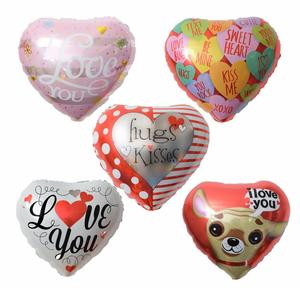 Wholesale Cheap High Quality 18 Inch Heart Shaped Wedding Party Decoration Love Aluminum Foil Balloon
