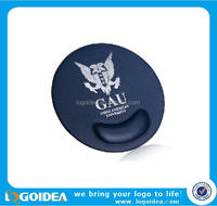high quality round custom PU leather mouse pad