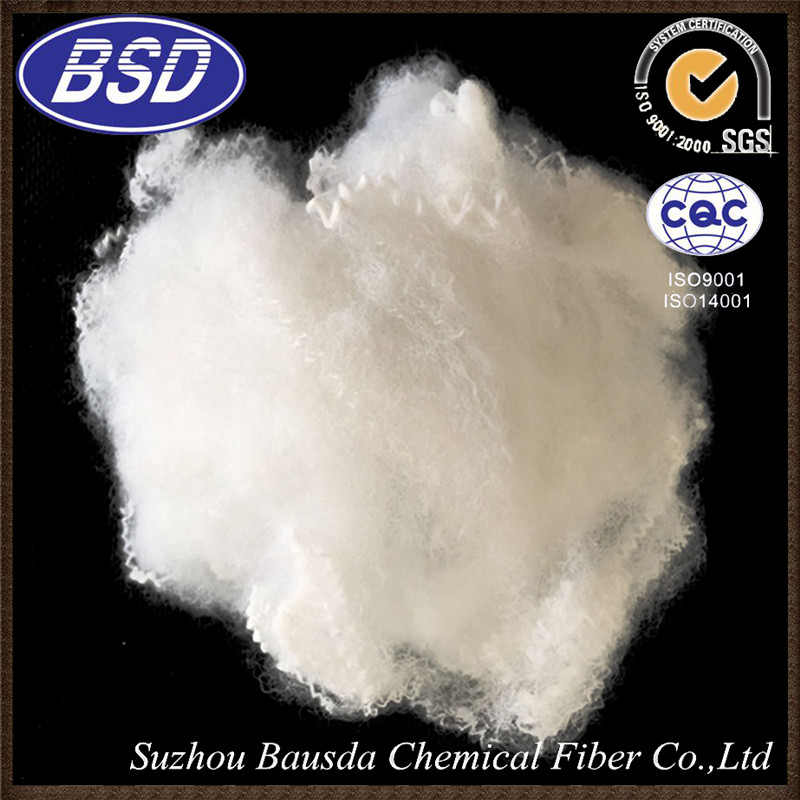 Normal white eco-friendly polyester staple fiber for mats