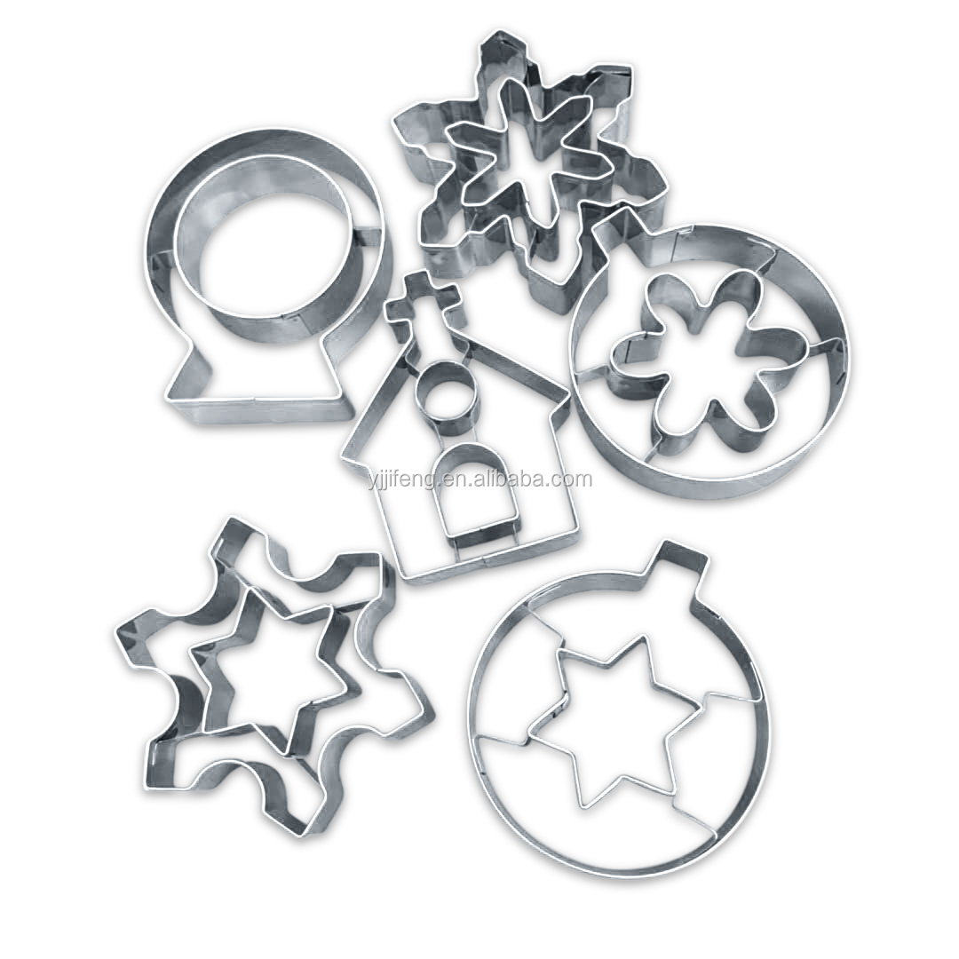 new arrivals 2019 Food grade Christmas cookie cutter with cutting part stainless steel material