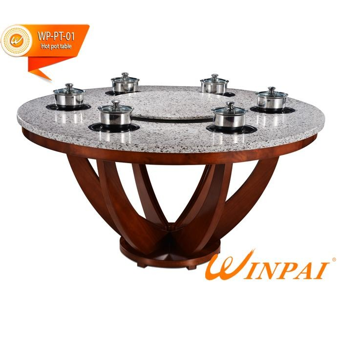 product-2015 new design round restaurant quartz hot pot table-WINPAI-WINPAI-img