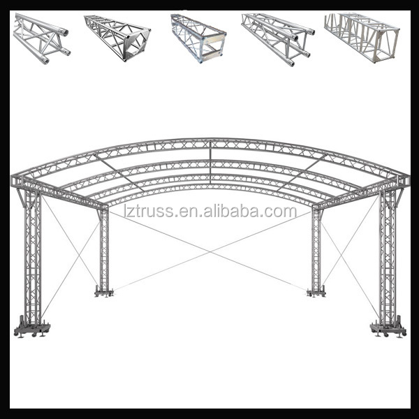 sound and light truss system roof truss dj turss aluminum stage truss