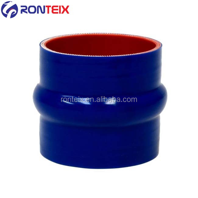 """2/"""" to 2.75/"""" Straight Reduce Turbo Silicone Hose Pipe Coupler Blue"""